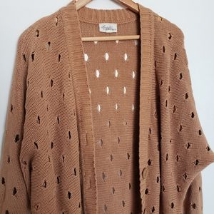 Sweaters - 4 for $25 destressed tan cardigan sweater